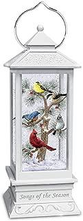 The Bradford Exchange Songs of The Season Illuminated Snowglobe Songbird Lantern