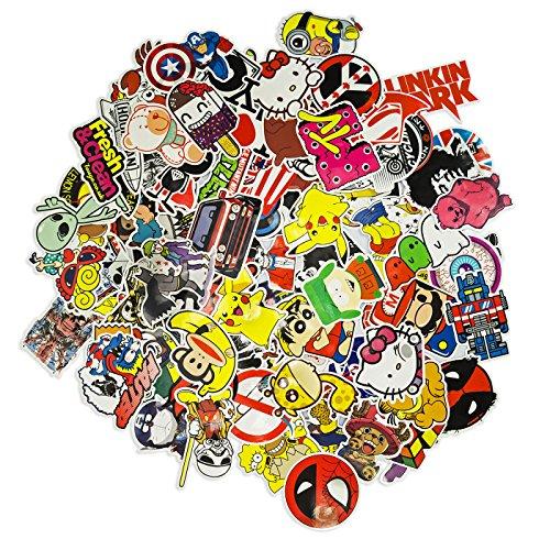Auto-Dress 100 Aufkleber/Sticker - Retro-, Graffiti- Style, Reisen, Marken für Skateboard, Snowboard, Koffer, Notebook, Auto, Fahrrad & UVM (Set-4)