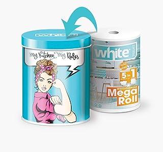 بكرة مناديل مطبخ 5 في 1 متعددة الاستخدامات ميجا رول من وايت - 325 منديل