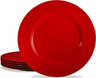 Calypso Basics by Reston Lloyd Melamine Salad Plate, Set of 6, Red