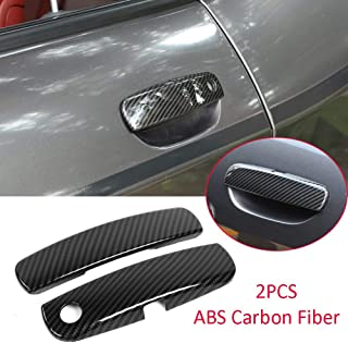 ダッジチャレンジャー2012-2020 ABS外側サイドドアハンドルカバートリムに適合 (Carbon Fiber ABS)