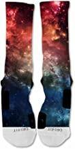 EliteDesignzz Men's Galaxy Fire Custom Design Socks
