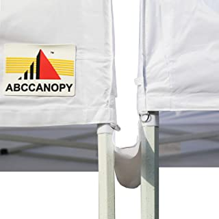 ABCCANOPY Canopy Accessories 10 Foot Canopy Rain Gutter/Light Gutter for 10' X 10' Canopy Pop up Tent (White)