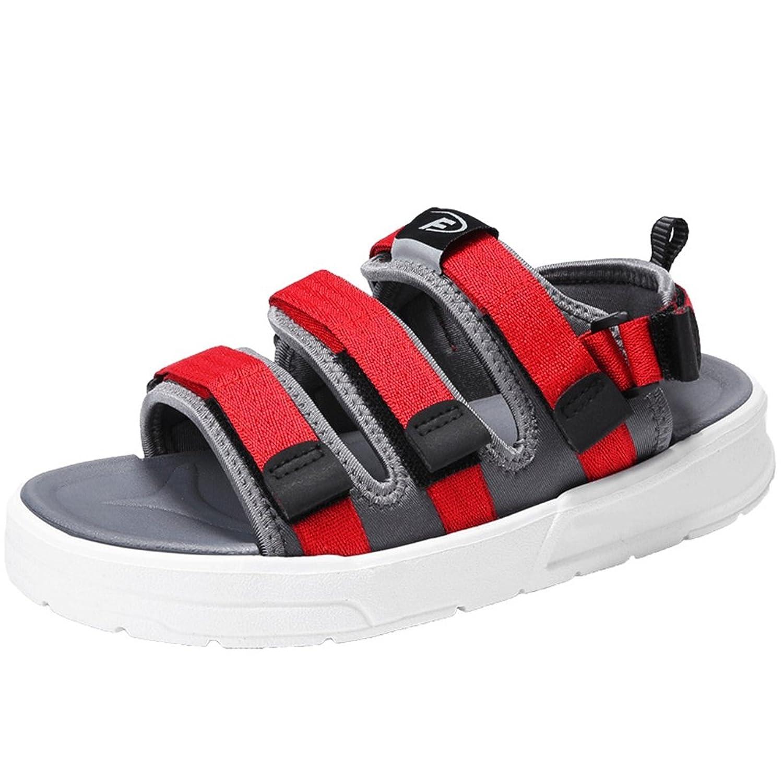 [幸福マーケット] 厚底 サンダル メンズ スポーツサンダル ビーチ マジックテープ オフィス メッシュ 通気性 軽量 アウトドア ランニング 水陸両用 歩きやすいトラベル 夏 スリッパ 海水浴 靴 シューズ ウォーキング