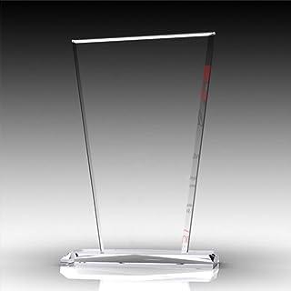 Nurdanil Trofeo de Vidrio con su Texto Personal Grabado Individualmente, Logotipo o Imagen, Copa de Regalo, Regalo a Juego...