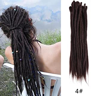 AOSOME 20Inch 20pcs/pack Synthetic Dreadlock Extensions Dark Brown Crochet Hair Extensions