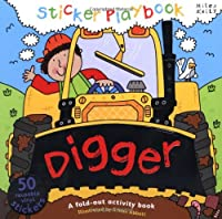 Sticker Playbook - Digger: A Fold-out Story Activity Book for Toddlers (Playbooks)