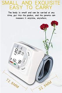 DNDN Monitor de la presión Arterial con Muñequera, Pantalla LCD Digital Probador de BP para Uso en el hogar, medirse la tensión Arterial y el Pulso del Ritmo cardíaco