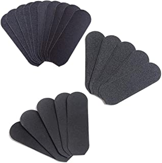 20 Pieces Foot File Replacement Pads Foot File Refills Abrasive Pedicure File Replacement Pads for Professional Stainless Steel Foot File Contain Fine and Coarse Replacement Grit Pads