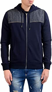 Christian Men's Blue Fleece Full Zip Hoodie Size US M IT 50