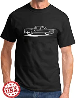 1955 1956 Ford Fairlane Hardtop Redline Series Classic Outline Design Tshirt