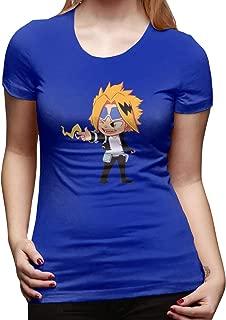 UXUEYING Kaminari Denki My Hero Academia Boku No Hero T-Shirt Blouses Women Short Sleeve Tops