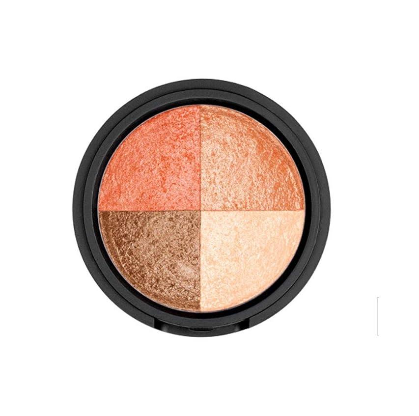 肖像画不純半球WAKEMAKE Eye Styler Eyeshadow 4色のアイシャドウパレット#4 PEACH BROWN(並行輸入品)