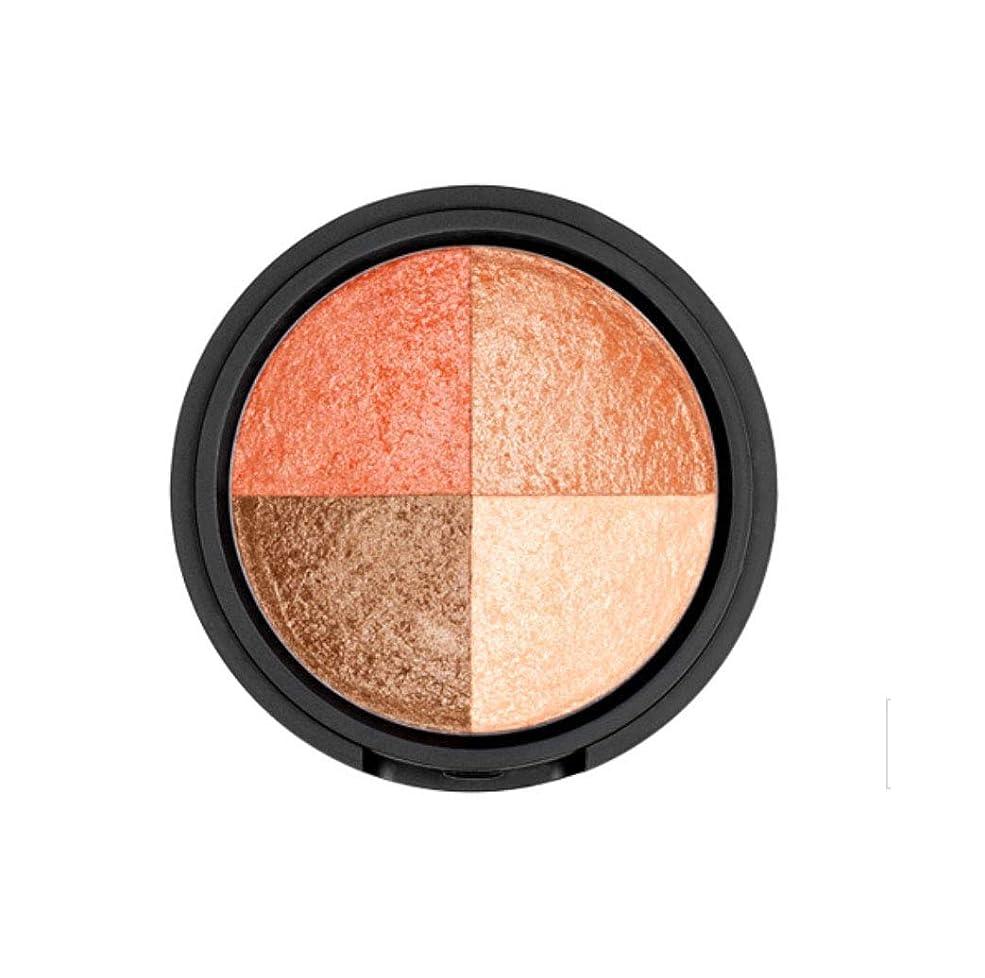 WAKEMAKE Eye Styler Eyeshadow 4色のアイシャドウパレット#4 PEACH BROWN(並行輸入品)