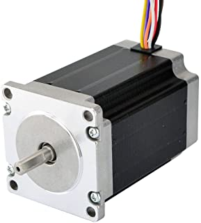 STEPPERONLINE Nema 23 Stepper Motor 2.83Nm 4A 8-Wire 6.35mm Dual Shaft CNC Mill Lathe Router