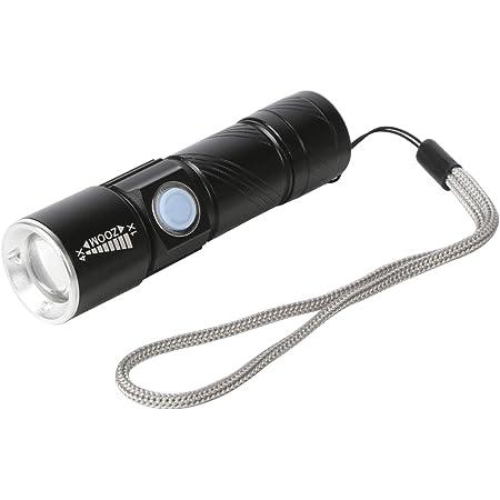 Mini LED Lampe de Poche Torche Eclairage Porte-Cl/é Portable-ARGENT