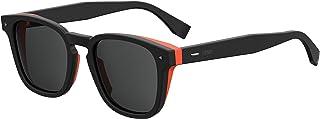 نظارة شمسية وايفارير للجنسين من فيندي - عدسات رمادية، FF M0018/S 807IR