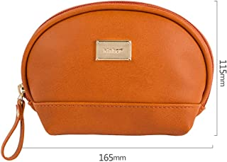 GXDJQBD Pencil case, Three-Dimensional Portable Small Cosmetic Bag Girl with Makeup Makeup Storage Bag Lipstick Lip Gloss Lipstick Bag Shell Bag (Color : Brown)