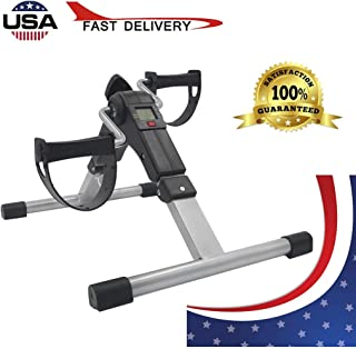 ETHY Household Portable Mini Exercise Bike Folding Pedal Exerciser and LCD Display, for Arms, Legs, Physical Therapy