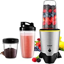CHULUX Smoothie Bullet Blender Maker, 1000W High Speed Coffee Grinder with Blending and Grinding Blades, Tritan 35+15 OZ Travel Bottles for Shakes, Frozen Fruit, Baby Food,Spices,Low Noise