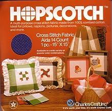 "Navy/Cream Hopscotch Cross Stitch Fabric Aida 14 Count 15""x15"""