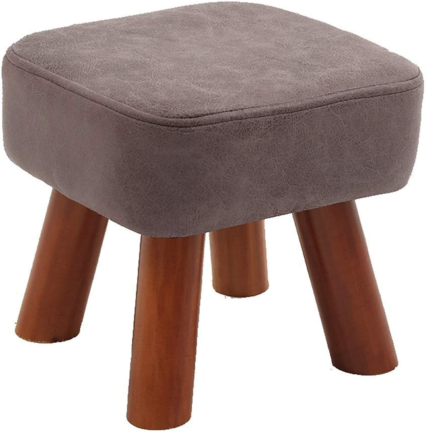 European Chair Change shoes Stool Solid Wood Stool Sofa Stool Coffee Table Wear shoes Sit GMING (color   B)