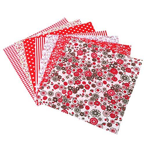 SUPVOX 7 piezas de tela de algodón para manualidades con diseño de retales y flores para manualidades, costura y álbumes de recortes