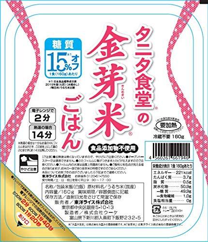 東洋ライス『タニタ食堂の金芽米ごはん(パックごはん)』