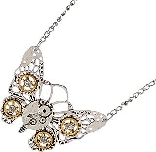Collar Steampunk Antiguos Engranajes de Plata