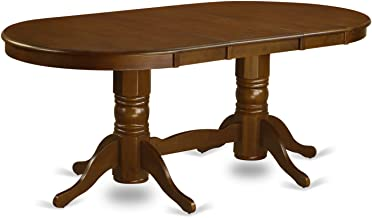 VAT-ESP-TP Oval Double Pedestal Dining Table with a 17inch Butterfly Leaf in Espresso