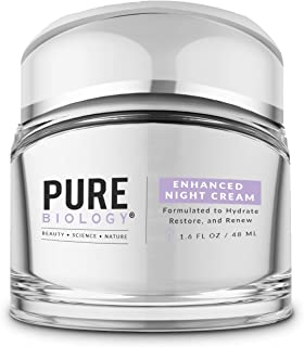 Pure Biology Premium Night Cream Face Moisturizer with Clinically Studied Syn-Coll, Retinol, Collagen & Hyaluronic Acid, A...