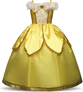 QZ Christmas Carnival Costume Princess Sofia Snow White Rapunzel Dress Girl Halloween Role-Play Dress Up Kids Party Costume3-8 Years Old,150