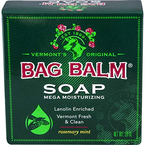 Bag Balm Mega Moisturizing Soap Rosemary Mint 39 Ounce Bar Value Pack of 3