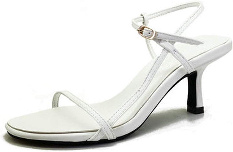 Women Sandals Summer High Heels Open Toe shoes Buckle Women Sandals Heel Footwear