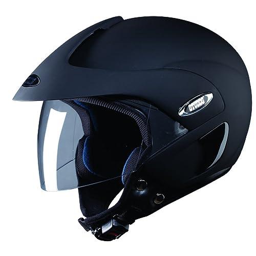 Studds Marshall Half Helmet (Matt Black, M)
