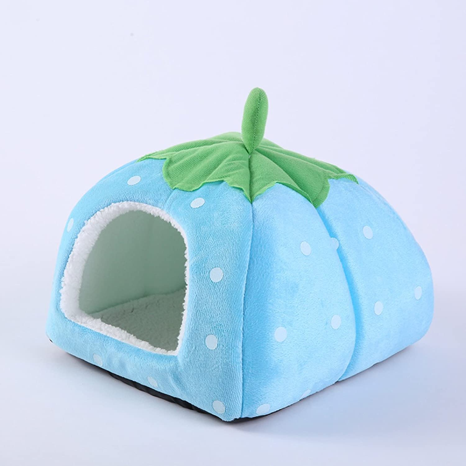 BAGEGE Pet Room Strawberry Personality Upscale Dog Cat House,blueeS(2626cm)