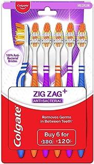 Colgate ZigZag Toothbrush - Medium (Pack of 6)