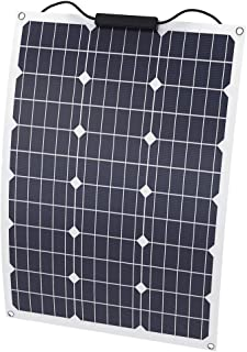 Pannelli Solari Fotovoltaico da 50W Kit Fotovoltaico da 12 V Modulo Policristallino Ricarica di Batteria Ecologica per Yacht RV Car Offgrid per Imbarcazioni