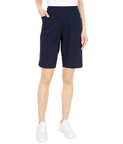 Krazy Larry Pull-On Shorts with Pockets (Navy) Women