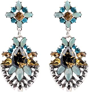 Fashion Statement Women Lady Long Crystal Ear Stud Hoop Flower Earrings Sale