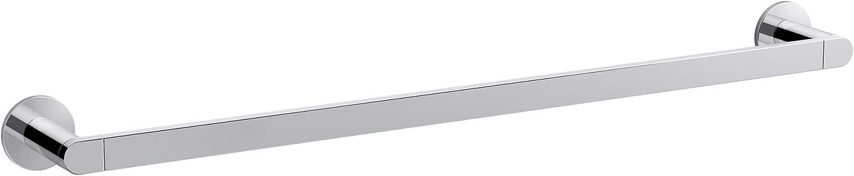 KOHLER K-73142-CP Composed 24-Inch Bathroom Towel bar, Polished Chrome