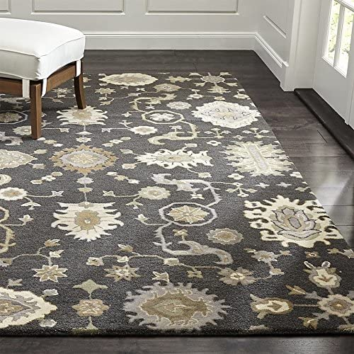 Crate and Barrel Max 63% OFF Juno Gray Fort Worth Mall Handmade Persian Woo Traditional 100%