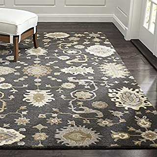 Crate and Barrel Juno Gray Traditional Persian Handmade 100% Wool Rugs & Carpets (9'x12')