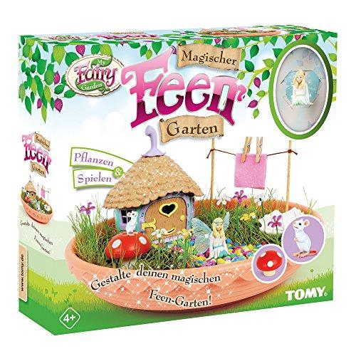 My Fairy Garden Spielzeugset, Magischer Feen Garten, Garten für Kinder ab 4 Jahren zum Selber Pflanzen & Spielen, Feen Garten Set inkl. Grassamen, Kreativset Mädchen, Spielzeug für Kleinkinder