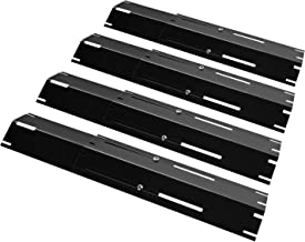 "Unicook Universal Replacement Heavy Duty Adjustable Porcelain Steel Heat Plate Shield, Heat Tent, Flavorizer Bar, Burner Cover, Flame Tamer for Gas Grill, Extends from 11.75"" up to 21"" L, 4 Pack"