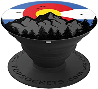 Colorado Rocky Mountains Coloradan State Flag - PopSockets Grip and Stand for Phones and Tablets