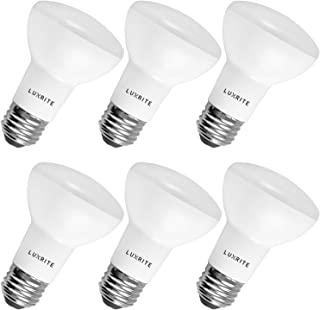 Luxrite BR20 LED Bulb, 45W Equivalent, 2700K Warm White, Dimmable, 460 Lumen, R20 LED Flood Light Bulb 6.5W, Energy Star, Damp Rated, E26 Base, Perfect for Recessed and Track Lighting (6 Pack)