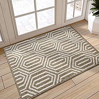 "DEXI Indoor Doormat, Non Slip Absorbent Resist Dirt Entrance Rug, 32""x40"" Large Size Machine Washable Low-Profile Inside Floor Door Mat"