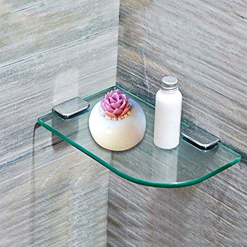 Badkamer plank LHA badkamer muur gemonteerde glazen scheidingswanden toilet opslag rek hoek driehoek rek Planken
