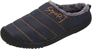 LONGDAY Slip On House ShoesWomen's Comfort Memory Foam Slippers with Warm Fleece Lining and Wool-Like Collar